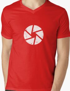 Iris Logo, White Mens V-Neck T-Shirt
