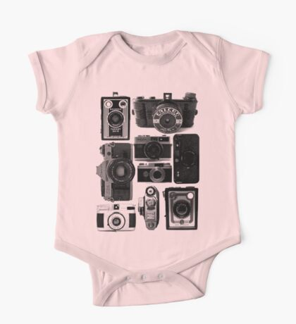 Old Cameras One Piece - Short Sleeve