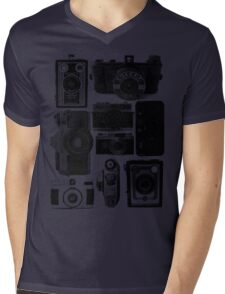 Old Cameras Mens V-Neck T-Shirt