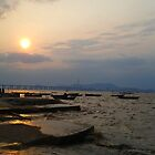 Hong Kong - Sunset at Fishing bay by Pegasi Designs
