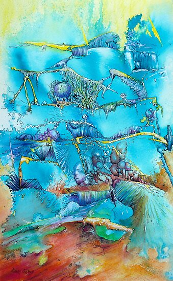 Dreamscape in Blue by Cathy Gilday