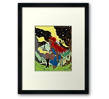 Red- Night version Framed Print