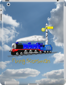 Flying Scotsman for Kids iPad case by Dennis Melling
