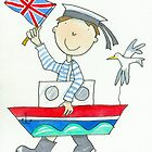 Fancy Dress Parade Sailor Boy  by AndyLanhamArt