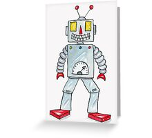 Smiling Robot  Greeting Card