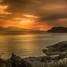 Sunset over Lismore Island by Fe Messenger