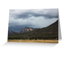 Glen Davis Mountains Greeting Card