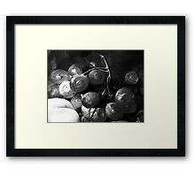 Grape & Peach Framed Print