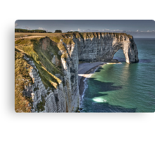 Normandy's White Cliffs - Etretat Canvas Print