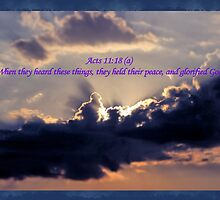 They Held Their Peace, and Glorified God by aprilann
