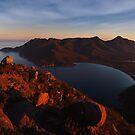 Evening Glow over Wineglass Bay - Frecinet Peninsula by Mark Shean