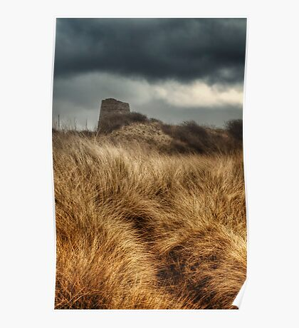 Tower in the Dunes Poster