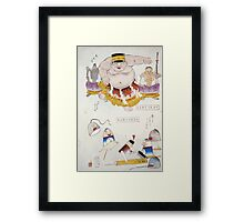 Humorous pictures depicting the Chinese 001 Framed Print