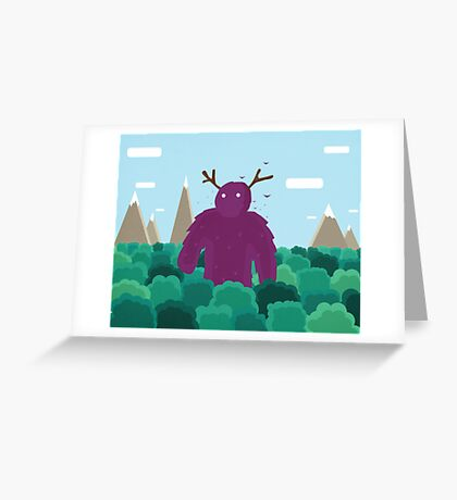 Life Swarms with Innocent Monsters Greeting Card