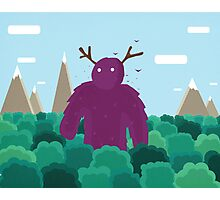 Life Swarms with Innocent Monsters Photographic Print