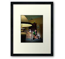 in the boudoir Framed Print