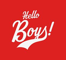Hello Boys! Womens Fitted T-Shirt