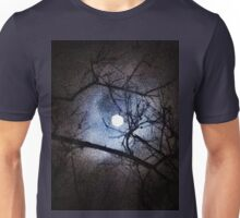 The Full Moon Between Branches Unisex T-Shirt