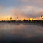 Sunrise over the lake. by Rudi Venter