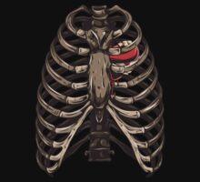 Grunge Rib Cage Shirt by Sarah  Eldred