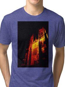 York Minster, Gothic light. Tri-blend T-Shirt