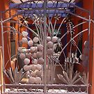 Sculptured gate, Tubac, Arizona by nealbarnett