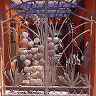 Sculptured gate, Tubac, Arizona by nealbarnett