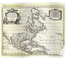 1708 De L'Isle Map of North America Covens and Mortier ed Poster