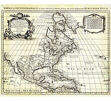 1708 De L'Isle Map of North America Covens and Mortier ed Photographic Print