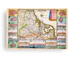 1710 De La Feuille Map of the Netherlands Belgium and Luxembourg Geographicus 17Provinces laveuille 1710 Canvas Print