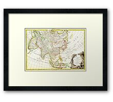 1770 Janvier Map of Asia Geographicus Asia janvier 1770 Framed Print