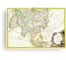 1770 Janvier Map of Asia Geographicus Asia janvier 1770 Canvas Print