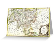 1770 Janvier Map of Asia Geographicus Asia janvier 1770 Greeting Card