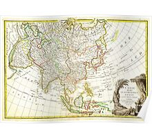 1770 Janvier Map of Asia Geographicus Asia janvier 1770 Poster