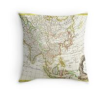 1770 Janvier Map of Asia Geographicus Asia janvier 1770 Throw Pillow