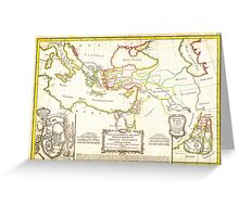 1771 Bonne Map of the New Testament Lands w Holy Land and Jerusalem Geographicus NewTestament bonne 1771 Greeting Card