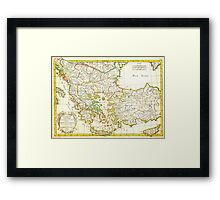 1771 Janvier Map of Greece Turkey Macedonia andamp the Balkans Geographicus TurqEurope janvier 1771 Framed Print