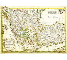 1771 Janvier Map of Greece Turkey Macedonia andamp the Balkans Geographicus TurqEurope janvier 1771 Photographic Print