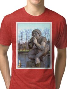 The Flute player Tri-blend T-Shirt
