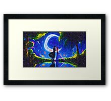 moonlight dating Framed Print