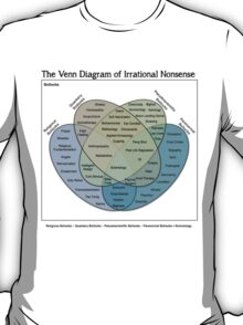 The Venn Diagram of Irrational Nonsense (White T) T-Shirt