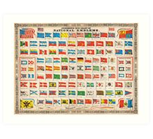 1864 Johnson Chart of the Flags and National Emblems of the World Geographicus Flags johnson 1864 Art Print