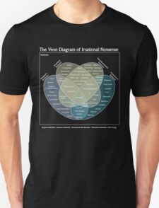 The Venn Diagram of Irrational Nonsense (Dark) Unisex T-Shirt