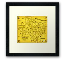 A Literary map of Texas by Dallas Pub Lib (1955) Framed Print