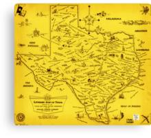 A Literary map of Texas by Dallas Pub Lib (1955) Canvas Print