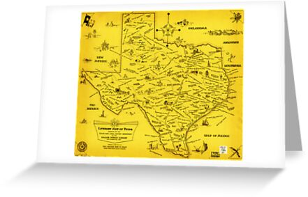 A Literary map of Texas by Dallas Pub Lib (1955) by MotionAge Media