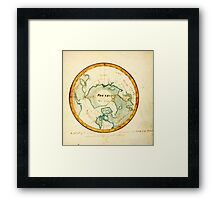 A Map of the Countries situate about the North Pole as far as the 50th degree of north latitude, ca Framed Print