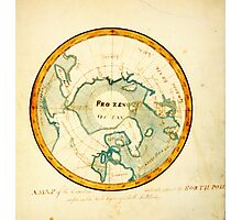 A Map of the Countries situate about the North Pole as far as the 50th degree of north latitude, ca Photographic Print