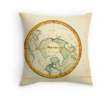 A Map of the Countries situate about the North Pole as far as the 50th degree of north latitude, ca Throw Pillow