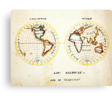 A Map of the World  Amy Baldwin sc Canvas Print
